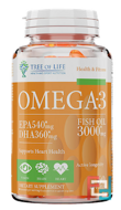 Life Omega-3, Tree of Life, HAS Nutrition, 3000 mg, 60 softgels
