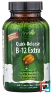 B-12 Extract, Quick Release, Irwin Naturals, 60 Liquid Soft-Gels
