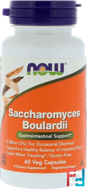 Saccharomyces Boulardii, Gastrointestinal Support, Now Foods, 60 Veg Capsules