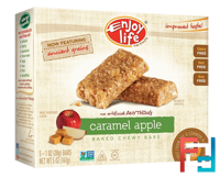 Baked Chewy Bars, Caramel Apple, Enjoy Life Foods, 5 Bars, 1 oz (28 g) Each
