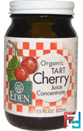 Organic Tart Cherry Juice Concentrate, Eden Foods, 7.5 fl oz, 222 ml