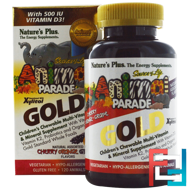Source of Life Animal Parade Gold, Children's Chewable Multi-Vitamin & Mineral Supplement, Natural Assorted Flavors, Nature's Plus, 120 Animals