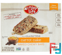Baked Chewy Bars, Carrot Cake, Enjoy Life Foods, 5 Bars, 1.15 oz (33 g) Each