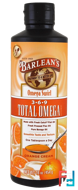 Total Omega 3·6·9 Supplement, Orange Cream, Barlean's, 16 oz, 454 g