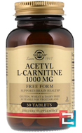 Acetyl L-Carnitine, Solgar, 1000 mg, 30 tablets