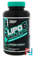 Lipo 6, Black Hers, Nutrex Research Labs, (US), 120 Capsules