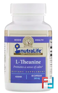 L-Theanine, NutraLife, 200 mg, 60 Capsules