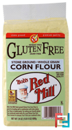 Gluten Free Corn Flour, Bob's Red Mill, 24 oz (680 g)