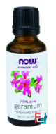 Essential Oils, Geranium, Now Foods, 30 ml