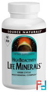 Life Minerals, No Iron, Source Naturals, 120 Tablets