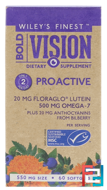 Bold Vision, Proactive, Wiley's Finest, 550 mg, 60 Softgels