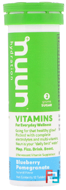 Hydration Vitamins, Nuun, Blueberry Pomegranate, 12 tablets