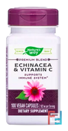 Echinacea & Vitamin C, Nature's Way, 492 mg, 100 Capsules