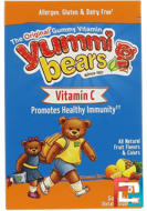 Yummi Bears, Vitamin C, Fruit Flavors, Hero Nutritional Products, 60 Gummy Bears