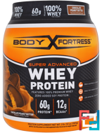 Super Advanced Whey Protein Powder, Body Fortress, 2 lbs, 907 g