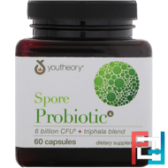 Spore Probiotic, 6 Billion CFU, Youtheory, 60 Capsules
