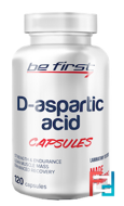D-aspartic acid capsules, Be First, 120 capsules