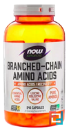 Branched Chain Amino Acids, Now Foods, 240 capsules