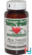 Complete Concentrates, Milk Thistle, Kroeger Herb Co, 90 Veggie Caps