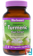 Standardized Turmeric Root Extract, Bluebonnet Nutrition, 120 Veggie Caps