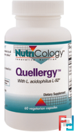 Quellergy with L. Acidophilus L-92, Nutricology, 60 Vegetarian Capsules