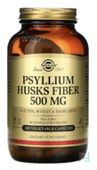 Psyllium Husks Fiber, Solgar, 500 mg, 200 Vegetable Capsules