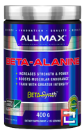 100% Pure Beta-Alanine Maximum Strength + Absorption, ALLMAX Nutrition, 3200 mg, 400 g