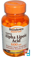 Super Alpha Lipoic Acid, 600 mg, Sundown Naturals, 60 Capsules