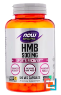 HMB, Sports, Now Foods, 500 mg, 120 Veg Capssules