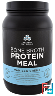 Bone Broth Protein Meal, Vanilla Creme, Dr. Axe / Ancient Nutrition, 28.2 oz (800 g)