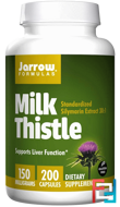 Milk Thistle, Jarrow Formulas, 150 mg, 200 Veggie Caps