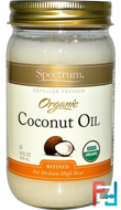 Organic Coconut Oil, Spectrum Naturals, 14 fl oz (414 ml)