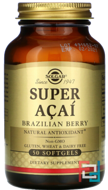 Super Acai, Brazilian Berry, Solgar, 50 Softgels