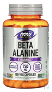 Beta-Alanine, Now Foods, 750 mg, 120 capsules