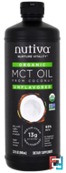 Organic MCT Oil From Coconut, Unflavored, Nutiva, 32 fl oz, 946 ml