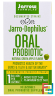 Jarro-Dophilus Oral Probiotic, 1 Billion, Natural Green Apple Flavor, Jarrow Formulas, 30 Lozenges