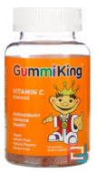 Vitamin C for Kids, Natural Orange Flavor, Gummi King, 60 Gummies