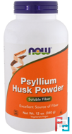 Now Foods, Psyllium Husk Powder, 12 oz (340 g)