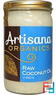 Raw Coconut Oil, Virgin, Artisana, Organics, 14 oz (414 g)