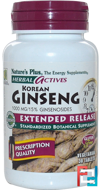 Herbal Actives, Korean Ginseng, Extended Release, Nature's Plus, 1000 mg, 30 Tablets