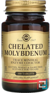 Chelated Molybdenum, Solgar, 100 Tablets