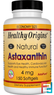 Astaxanthin, Healthy Origins, 4 mg, 150 Softgels