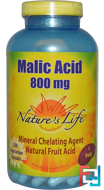 Malic Acid, 800 mg, Nature's Life, 250 Veggie Caps