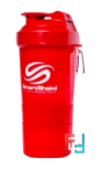 Shaker (Шейкер), 2 в 1, Slim, SmartShake, 400 ml - Neon Red