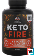 Keto Fire, Ketone Activator, Dr. Axe / Ancient Nutrition, 180 Capsules