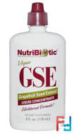 GSE Grapefruit Seed Extract, Liquid Concentrate, NutriBiotic, 2 fl oz, 59 ml