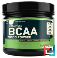 BCAA 5000 Powder, Optimum Nutrition, Unflavored, 345 g