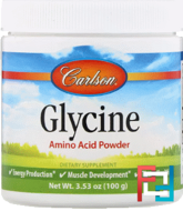 Glycine, Amino Acid Powder, Carlson Labs, 100 g