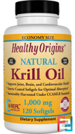 Krill Oil, Natural Vanilla Flavor, 1,000 mg, Healthy Origins, 120 Softgels