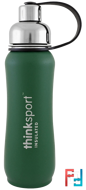 Thinksport, Insulated Sports Bottle, Green, Think, 17 oz (500ml)